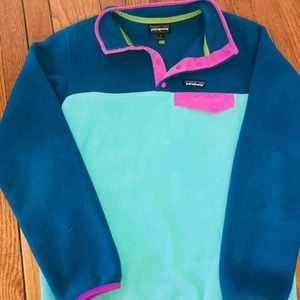 Patagonia Synchilla in Blues and Pink